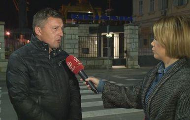 David Marsetič, predsjednik Radničkog vijeća Uljanik Brodogradilišta, i Petra Fabian Kapov (Foto: Dnevnik.hr)