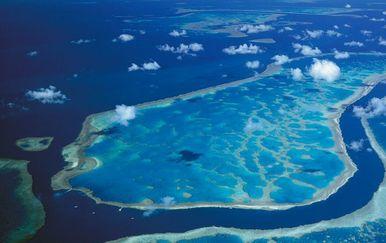 Chagos otočje iz zraka