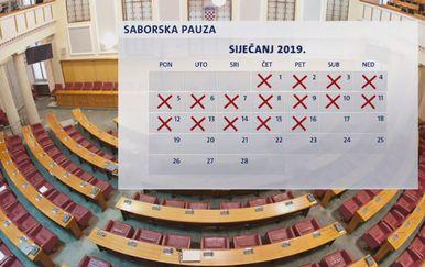 Saborska pauza u siječnju 2019. godine (Foto: Dnevnik.hr)