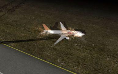 Animacija avionske nesreće u Turskoj - 3