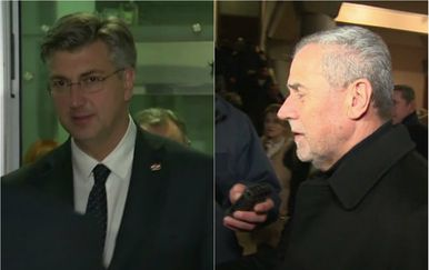 Andrej Plenković i Milan Bandić