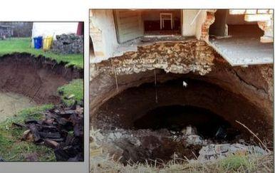 Rupe na potresom pogođenim područjima