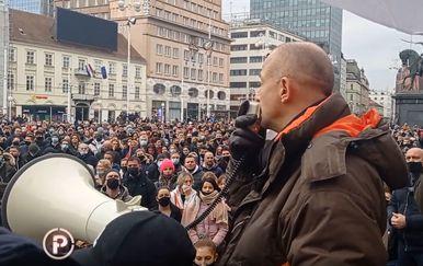 Andrija Klarić na prosvjedu poduzetnika - 2