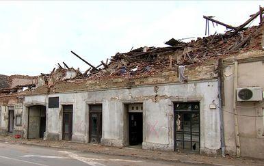 Centar Petrinje uništen nakon potresa