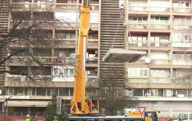 Sanacija zgrade u Vukovarskoj oštećene od potresa - 1