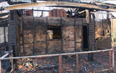 Izgorjeli dom za umirovljenike u Andraševcima