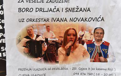 Sporni koncert Borka Drljače je otkazan (Foto: Dusko Marusic/PIXSELL)
