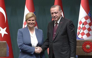 Kolinda Grabar Kitarović i Recep Tayyip Erdoğan (Foto: Dnevnik.hr) - 2