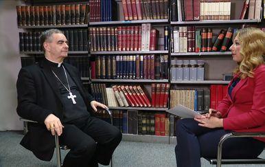 Nadbiskup Nikola Eterović za Novu TV (Foto: Dnevnik.hr) - 2