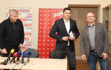 Davor Bernardić u Ogulinu (Foto: Kristina Stedul Fabac/PIXSELL)