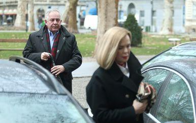 Ivo Sanader i odvjetnica Jadranka Sloković (Foto: Sanjin Strukic/PIXSELL)