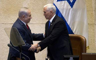 Mike Pence u Jeruzalemu (Foto: AFP)
