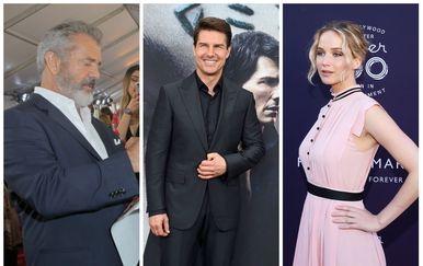 Jennifer Lawrence, Tom Cruise, Mel Gibson (FOTO: Getty)