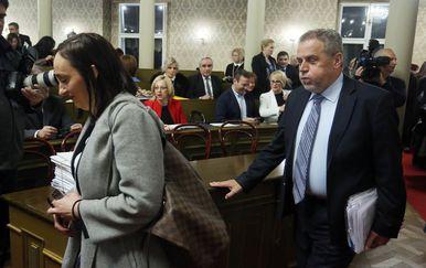 Ana Stojić Deban, predsjednica Uprave Holdinga, i Milan Bandić, zagrebački gradonačelnik (Foto: Borna Filic/PIXSELL)