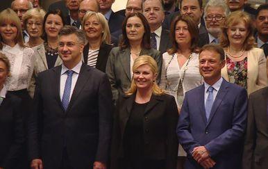 Andrej Plenković, Kolinda Grabar Kitarović, i Gordan Jandroković (Foto: Dnevnik.hr)