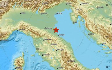 Potres magnitude 4,7 pogodio je sjevernu Italiju (Foto: Euromediteranski seizmološki centar)