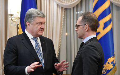 Heiko Maas i Mykola Lazarenko (Foto: AFP)