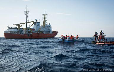 Spašavanje migranata, Ilustracija (Foto: Maud VEITH / SOS) MEDITERRANEE / AFP