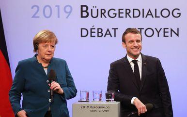 Njemačka kancelarka Merkel i francuski predsjednik Macron (Foto: AFP)