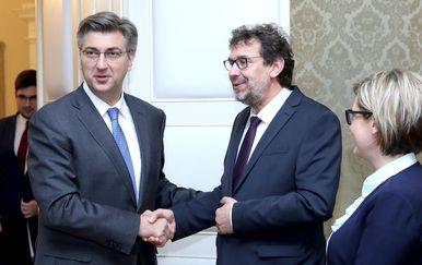 Andrej Plenković i Tomislav Žigmanov (Foto: Patrik Macek/PIXSELL)
