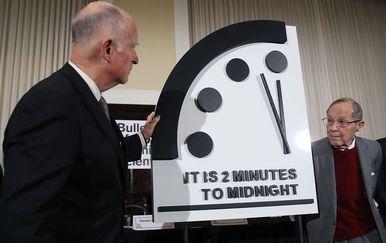 Sat sudnjeg dana otkucava dvije minute do ponoći (Foto: AFP)