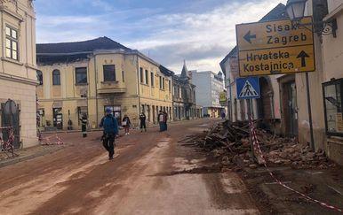 Razrušena Petrinja nakon potresa