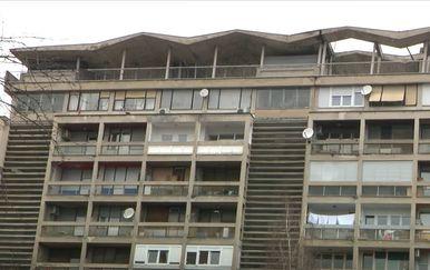 Nakošena zgrada u Vukovarskoj ulici od zagrebačkog potresa