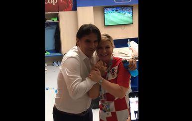 Nogometni izbornik Dalić i predsjednica Kolinda Grabar-Kitarović (Foto: Screenshot/Facebook)
