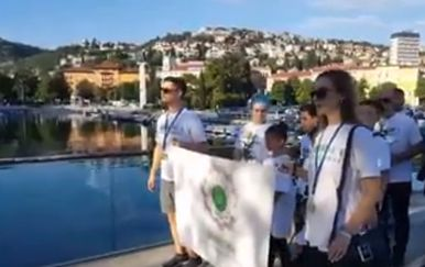 Mimohod za žrtve genocida u Srebrenici (Screenshot: Facebook)