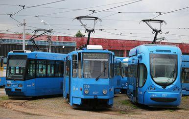 Tramvaji (Foto: Jurica Galoic/PIXSELL)