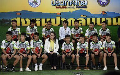 Tajlandski dječaci prvi se put obraćaju javnosti (Foto: AFP)
