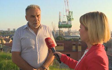 Đino Šverko, član sindikata Uljanika, i Petra Fabian Kapov (Foto: Dnevnik.hr)