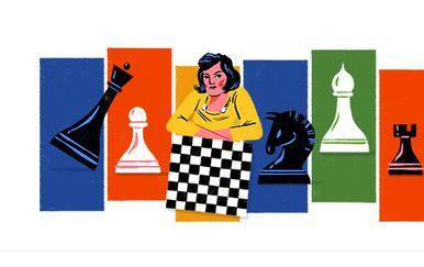 Google Doodle posvećen Ljudmili Rudenko (Foto: screenshot/Google)