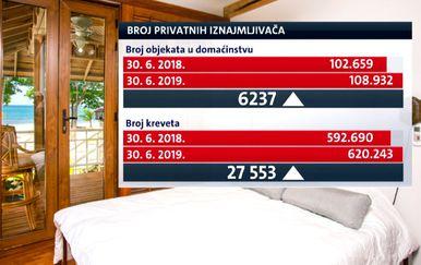 Grafika broja privatnih iznamljivača (Foto: Dnevnik.hr)