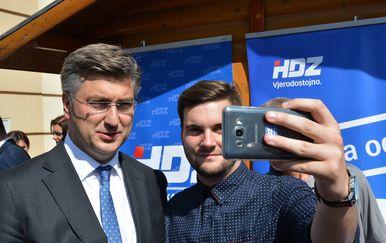 Andrej Plenković i Mateo Horvat (Foto: Damir Spehar/PIXSELL)