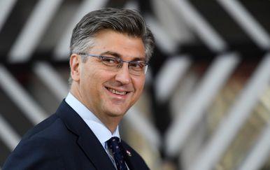 Andrej Plenković u Bruxellesu (Foto: AFP)