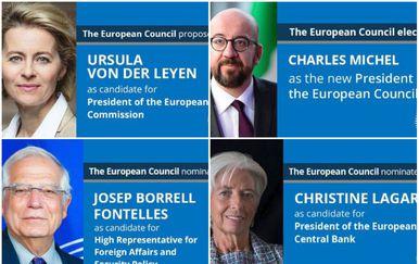 Novi čelnici Europske unije (Foto: Twitter/Donald Tusk)