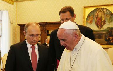 Papa Franjo i Putin (Foto: PA/PIXSELL)
