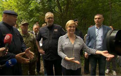 Kolinda Grabar-Kitarović u posjetu granici s BiH (Foto: Dnevnik.hr) - 2
