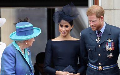 Harry, Meghan i kraljica Elizabeta (Foto: Getty)