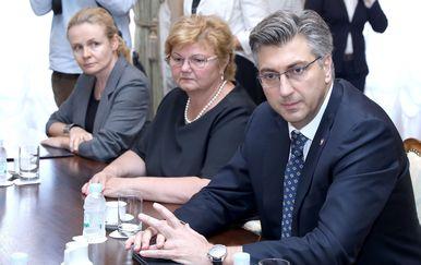 Premijer Plenković primio izlaslanstvo komore, udruge i sindikata socijalnih radnika (Foto: Patrik Macek/PIXSELL)