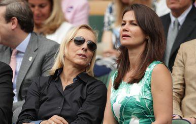 Martina Navratilova i Julija Lemigova (Foto: AFP)