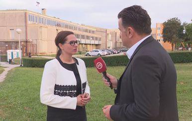 Jana Špero, pomoćnica ministra pravosuđa za zatvorski sustav, i Andrija Jarak (Foto: Dnevnik.hr)