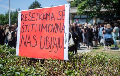 Prosvjed socijalnih radnika (Foto: Davor Puklavec/PIXSELL)