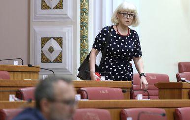 Vesna Bedeković u Saboru (Foto: Patrik Macek/PIXSELL)
