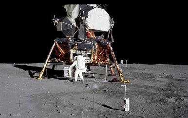 Astronaut Edwin Aldrin na Mjesecu