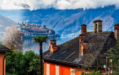 Pogled na jezero Maggiore iz kantona Ticino
