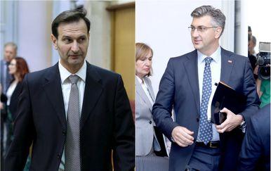 Miro Kovač i Andrej Plenković (Foto: Pixsell)