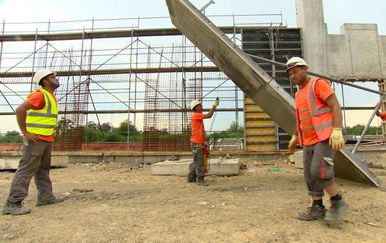 Građevinari na gradilištu (Foto: Dnevnik.hr) - 1