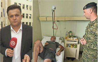 Andrija Jarak (lijevo), Evelina Valu je u bolnici posjetio zapovjednik Tigrova Krešimir Kršinić (Foto: Dnevnik.hr/Dusko Marusic/PIXSELL)